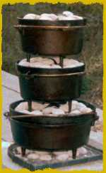 Camp cooking outdoors for How to cook in a dutch oven over a campfire