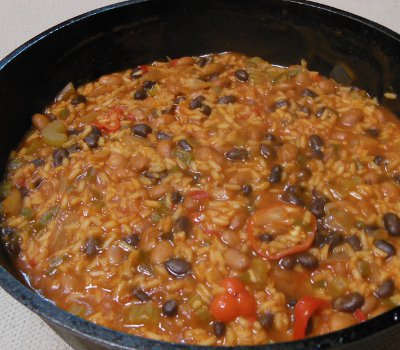 dutch oven creole beans and rice recipe